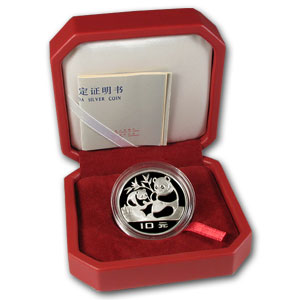 1983 Silver Chinese Panda 10 Yuan (Proof) (W/Box & Coa)